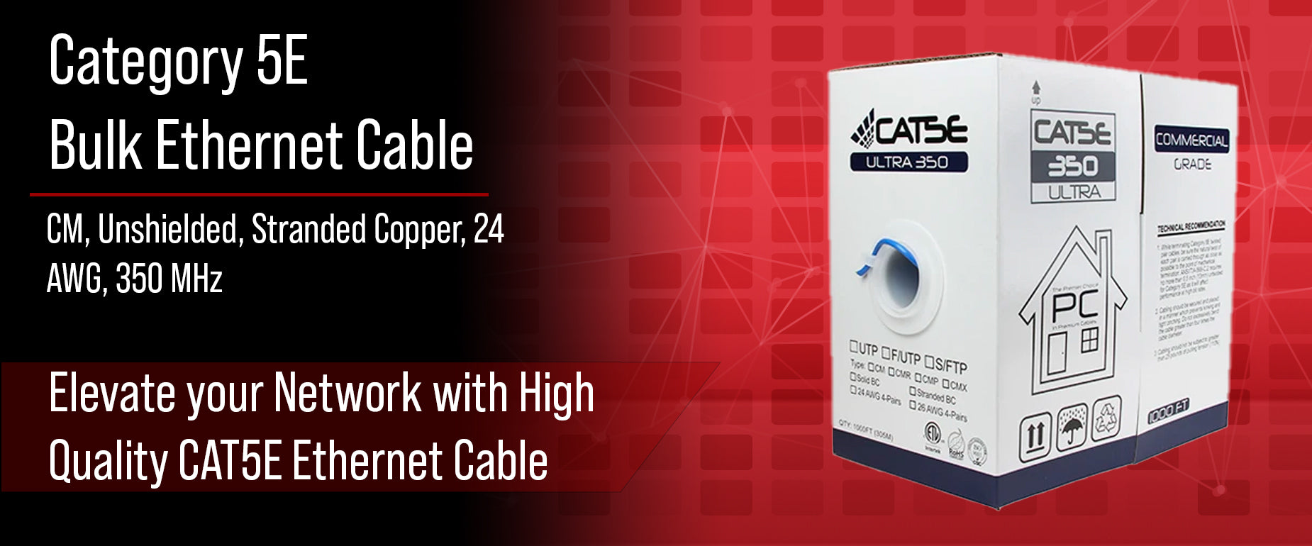 CAT5E Unshielded Stranded Cable
