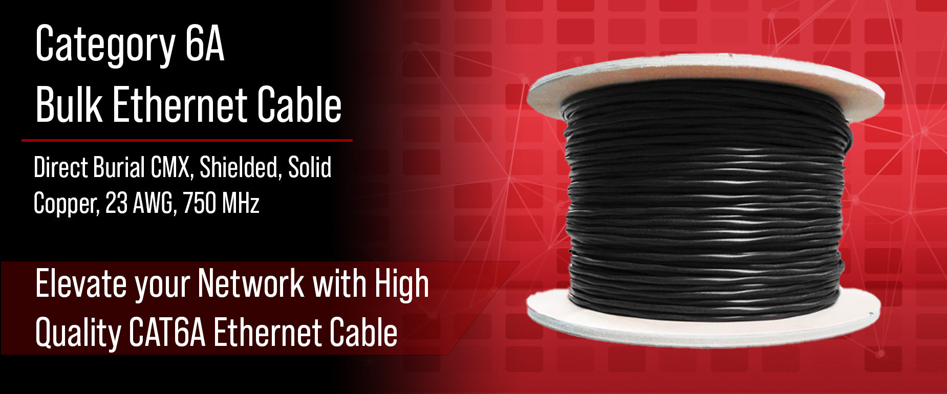 CAT6A Direct Burial Cable, Shielded