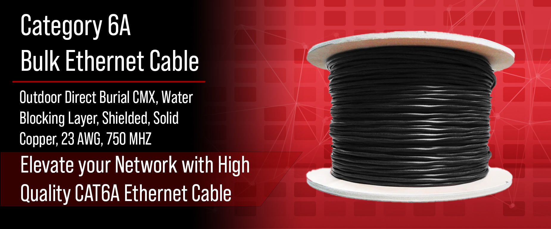 CAT6A Bulk Water Blocking Direct Burial Cable