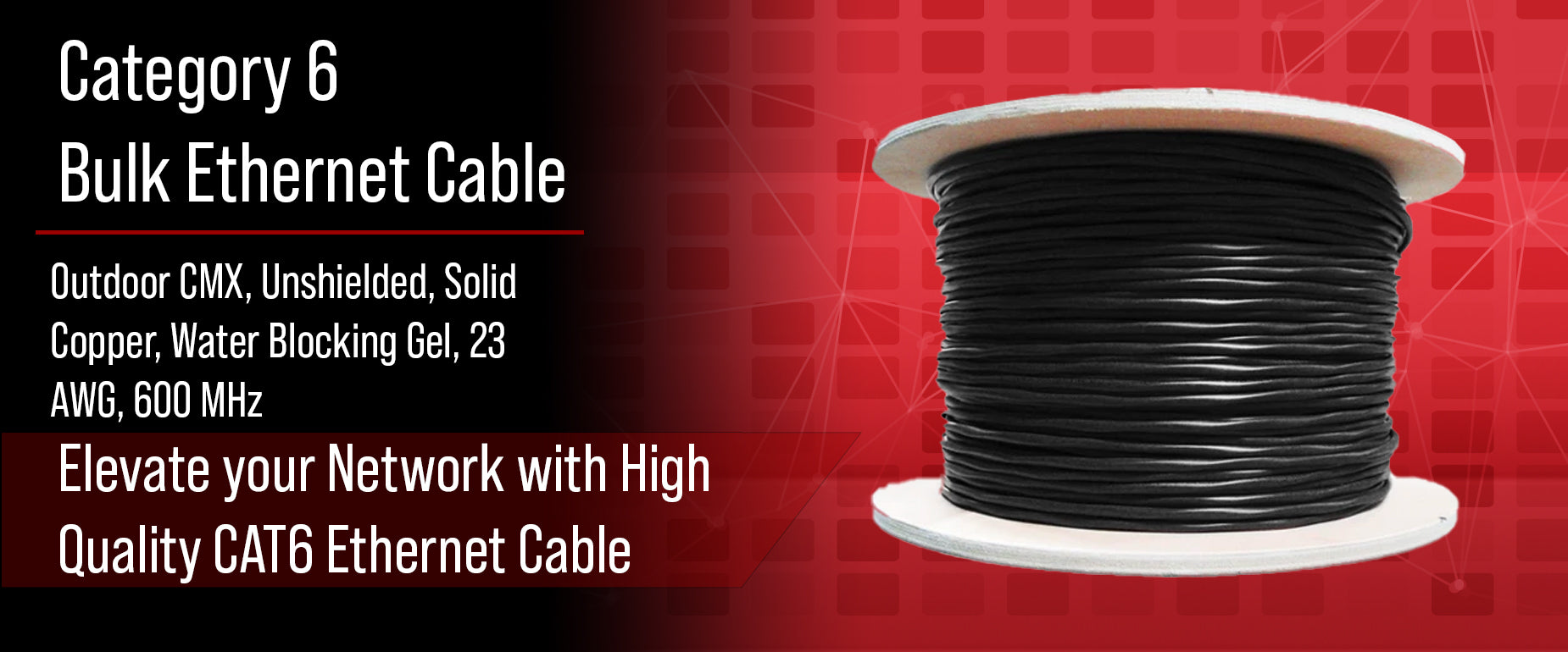 CAT6 Outdoor Direct Burial Cable Gel Filled
