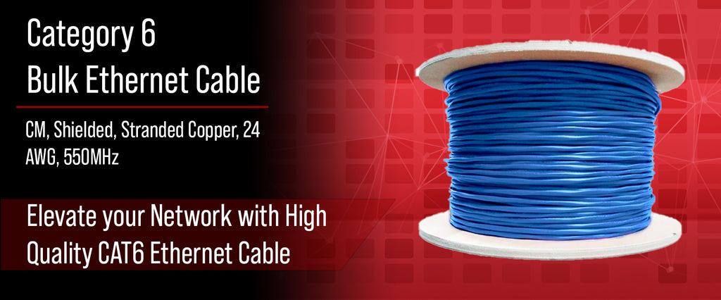 CAT6 Shielded Stranded 550Mhz Cable