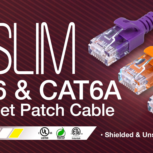 cat6 slim ethernet patch cord