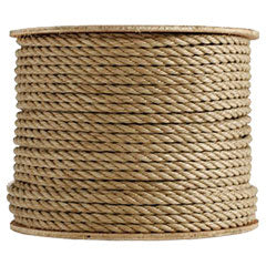 SOLD BY THE FOOT BEIGE DACRON POLYESTER 3 STRAND ROPE 100/' MINIMUM