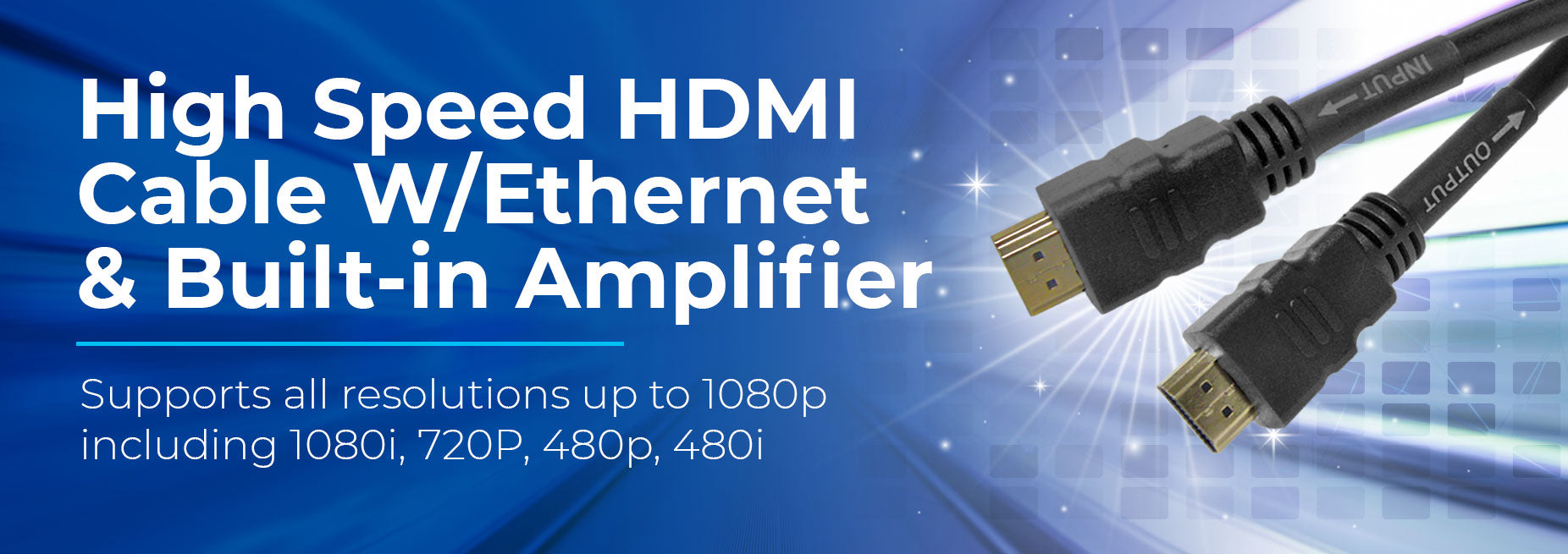 High Speed HDMI Cable with Ethernet & Built-In Amplifier - Primus Cable