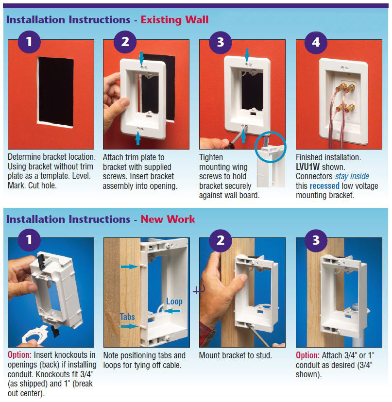 Drywall Mounting Bracket Instructions