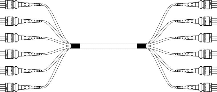 72 Strand MTP Trunk Cable Example