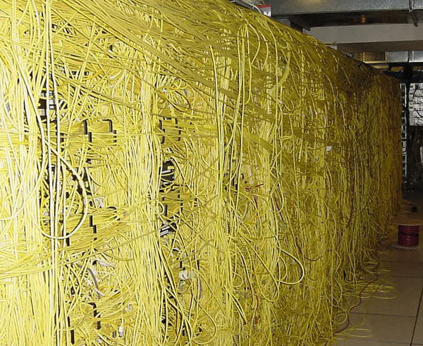 "Mess of ""Spaghetti"" Cables"