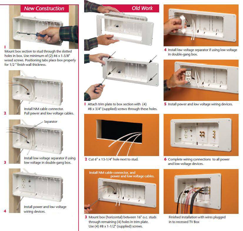 Recessed TV Box Instructions