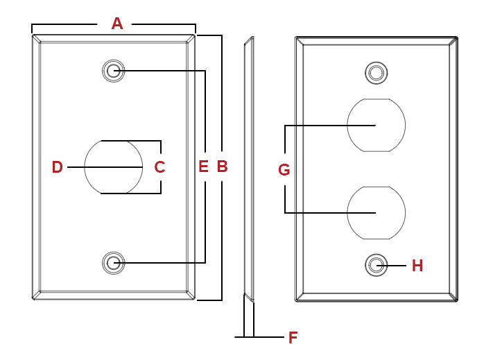 Outdoor Wall Plate Specs