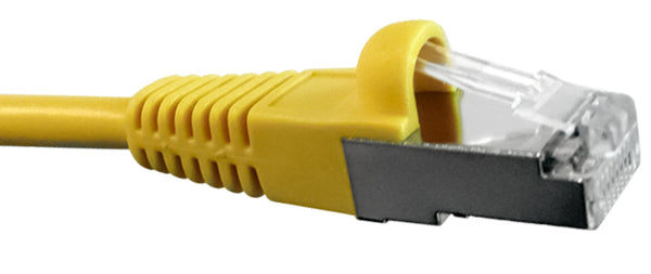 CAT5E, 6 Ethernet Patch Cable Shielded, Snagless Molded Boot, RJ45 - RJ45