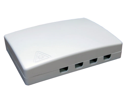 Wall Mount Plastic Fiber Distribution Unit, Up to 4 Ports