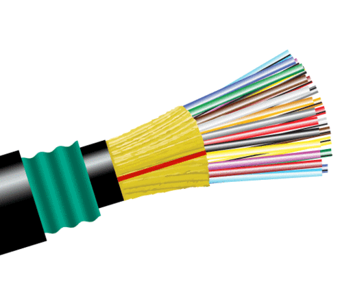 Direct Burial Polyethylene Fiber Optic Cable, Single Mode, Outdoor