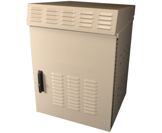 Backhaul Network Cabinet, 12RU Environmentally Controlled, Wall/Unistrut Mount