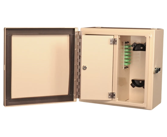 Wall Mount Fiber Patch Panel, NEMA 1 & 4 Rated, Up to 24 Ports