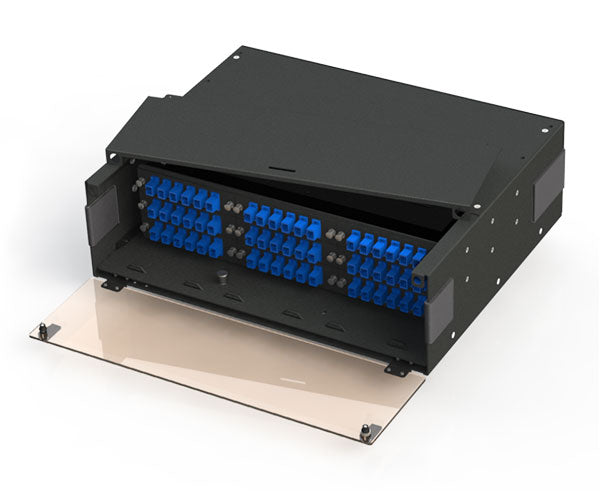 Slide-Out Patch Panel, Rack Mount 3RU, 9 Panel & 5 Splice Tray Capacity