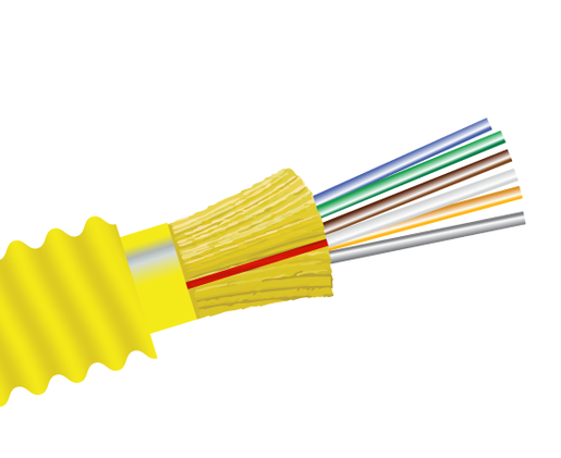 Armored Plenum Fiber Optic Cable, Single Mode, Indoor/Outdoor Distribution