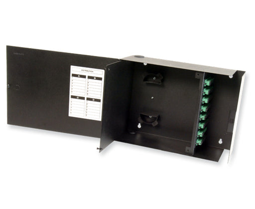 Single Outer Door Fiber Wall Mount Enclosure, 8 Splice Tray & 8 Panel Capacity