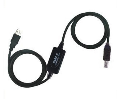 30' USB 2.0 Active Repeater Cable, A Male/B Male, Black