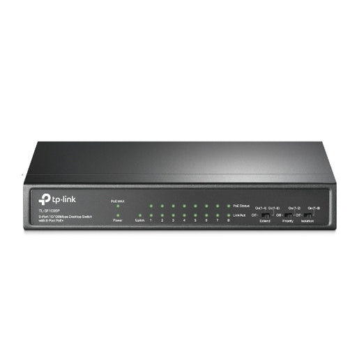 9-Port 10/100Mbps Desktop Switch with 8-Port PoE+