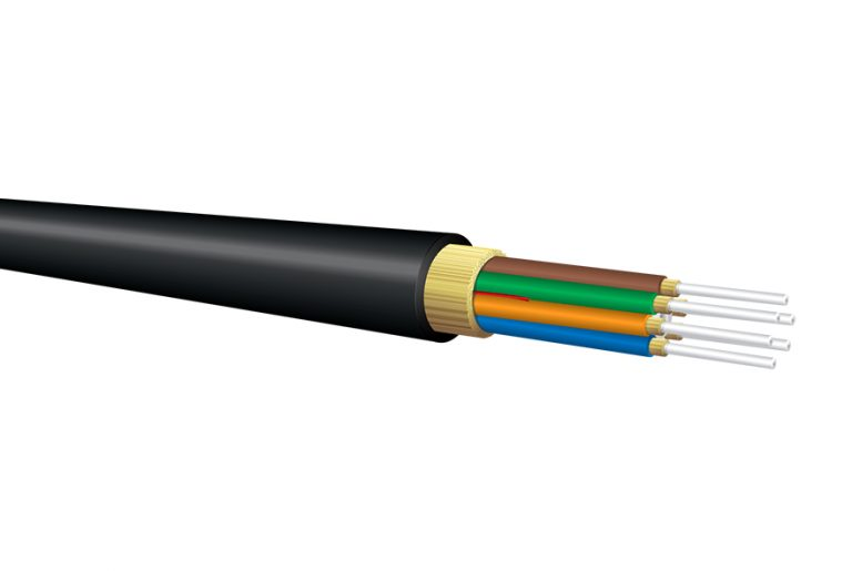 Military Polyurethane Fiber Optic Cable, Multimode OM1, Outdoor Tactical Breakout