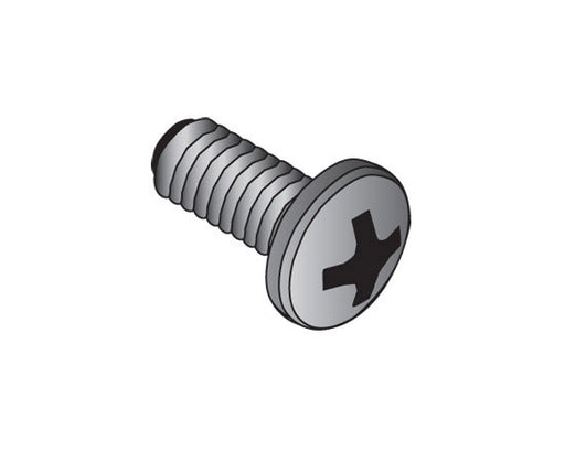 12-24 Rack & Enclosure Equipment Mounting Screws (30 Count)