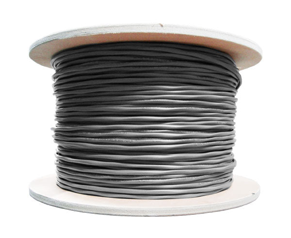 Alarm Security Cable 18/2 AWG (7 Strand) CMR FT4 Rated Shielded 1000' Gray