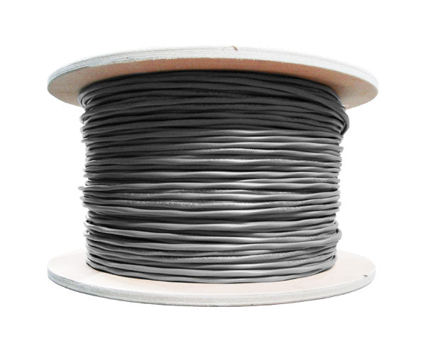 18/6 Audio Cable, PVC, Shielded/Stranded 7 Strand, 1000', Pull Box, - Gray