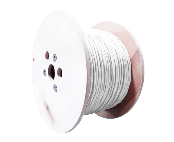 18/6 AWG CMP Alarm Security Cable, Shielded, 7 Strand conductors, 1000' White