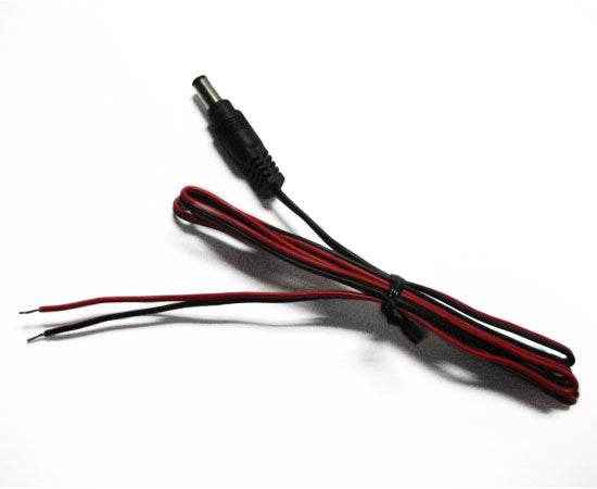 DC power adapter with colored wires and 1' leads