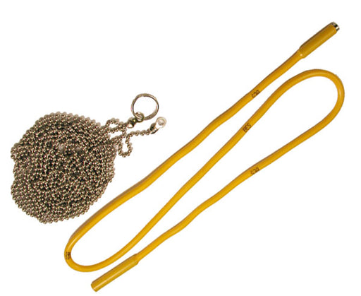 "Fish 10' Ball Chain and Flex-Fish 24"" Flexible Wire Fishing Tool"