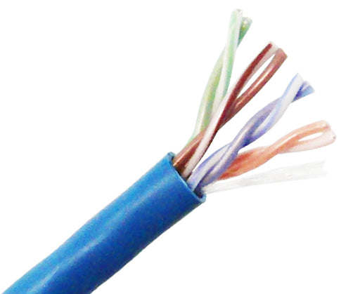 CAT5E Plenum Bulk Ethernet Cable, CMP UL Listed, Solid Copper UTP, 24 AWG 1000FT