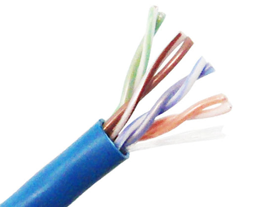 CAT5E UTP Bulk Stranded Ethernet Cable, Bare Copper CM, 24 AWG 1000FT
