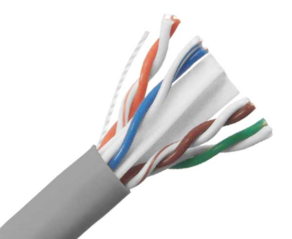CAT6A Plenum Bulk Ethernet Cable, CMP, Solid 23AWG 1000FT
