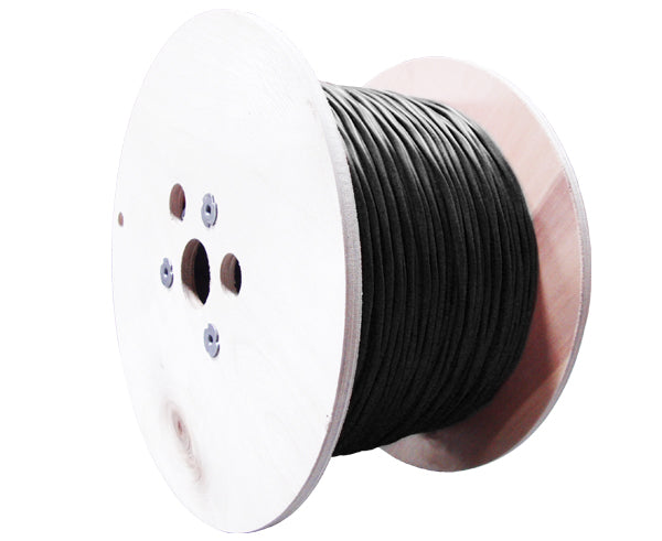 CAT6 Outdoor Bulk Ethernet Cable, Shielded Aerial Solid Copper w/Messenger, 23 AWG 1000FT