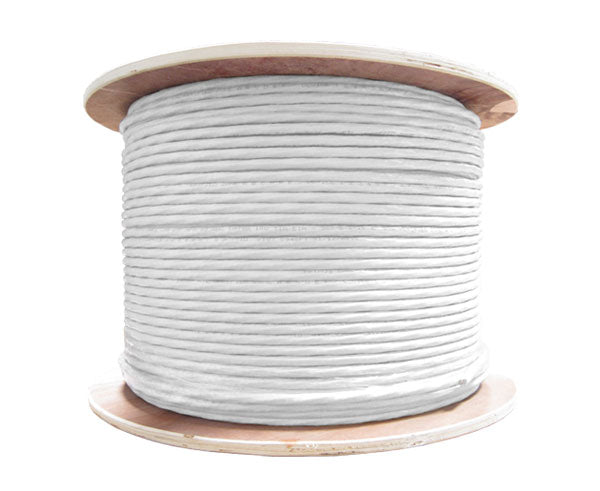 CAT6 Bulk Ethernet Cable, Dual Shielded, CM Rated, Solid 23 AWG 1000FT