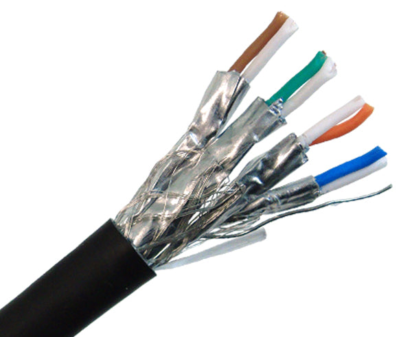 CAT 7 Ethernet Cable, Shielded, CAT 7 Cable, Indoor/Outdoor , 10G, 1000™ Black