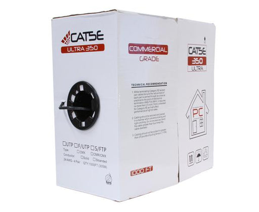 CAT5E Ethernet Cable, Outdoor CAT5E Cable - Solid Copper