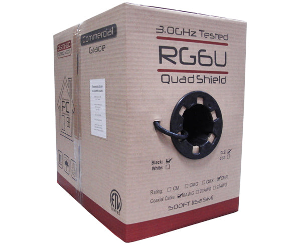 RG6 Quad Shielded Riser CMR Coaxial Cable