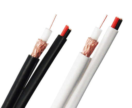 RG59 CCA Siamese Coaxial Cable, 20AWG, CCTV