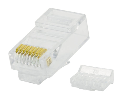 CAT6 RJ45 Modular Plug for Round Solid Cable with Insert