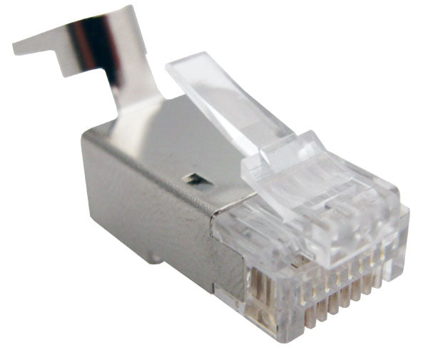 Shielded RJ45 Connector for CAT6, CAT6A, CAT7 Solid and Stranded Cable