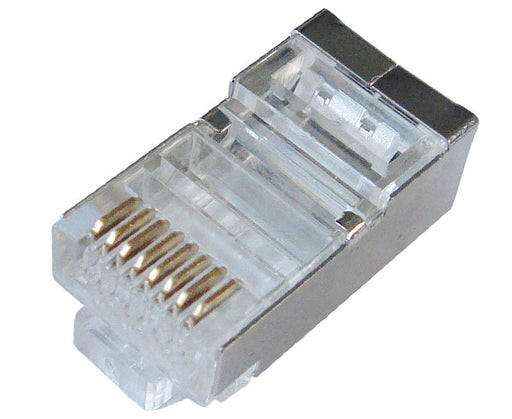 CAT5E Shielded RJ45 Plug for Round Solid Cable / Stranded Cable