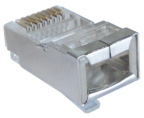 Shielded RJ45 Connector for CAT5E Solid and Stranded Cable
