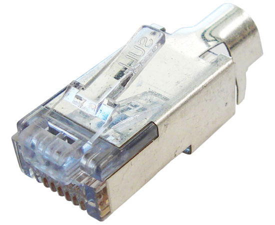 Shielded EZ-RJ45® Connector for CAT6 with External Ground