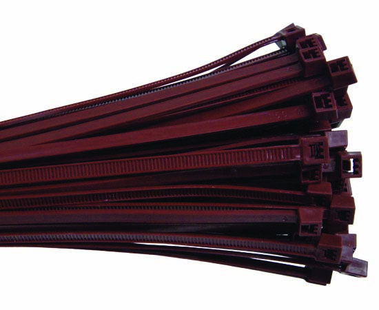 "Plenum 7"" Nylon Cable Tie 50lbs tensile strength Burgundy 100pk"