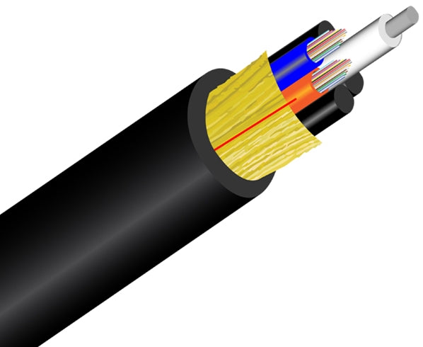 Loose Tube Plenum Fiber Optic Cable, Multimode OM1, Corning Fiber, Indoor/Outdoor