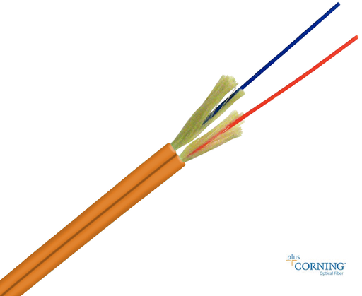 Duplex Cable Corning Fiber Multimode 62.5/125 OM1 Plenum OFNP