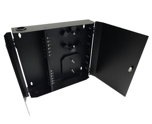 12 Port Loaded ST Simplex, Wallmount, Black