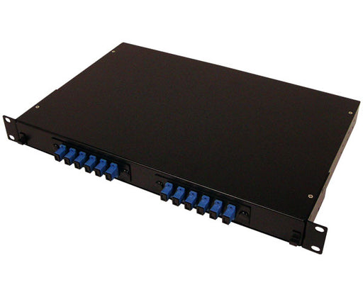 Fiber Patch Panel, 12 Port, Single Mode SC Simplex, 1U