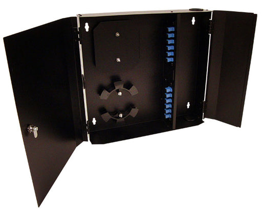 Fiber Wall Mount Enclosure, 12 Port, Single Mode SC Simplex